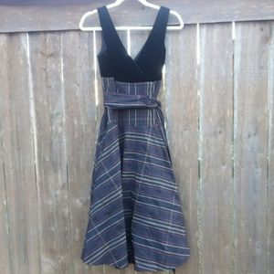 BCBG Paris Christmas Party Dress Black Plaid Sz 4